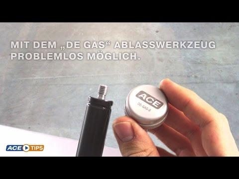 "ACETips - Druckanpassung in Gasfedern mit ACE ""DE GAS"""