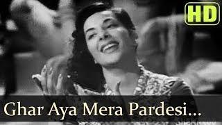 Ghar Aaya Mera Pardesi (HD) - Nargis - Raj Kapoor - Awaara songs - Lata - Manna Dey