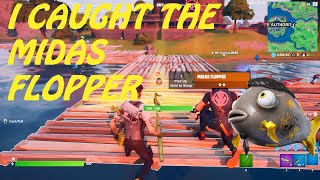 I GOT THE NEW MIDAS FLOPPER IN FORTNITE( 1 OUT OF 4000 CHANCE!) HOW TO GET THE MIDAS FLOPPER!!