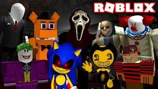 Очень СТРАШНЫЙ ЛИФТ в ROBLOX. Злые мульт герои Бэнди, 5 ночей с Фредди, Джейсон, Джокер, Слендермен