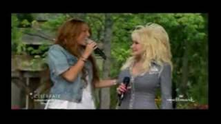 Miley Cyrus Billy Ray Cyrus and Dolly Parton 25th Aniversary of Dollywood