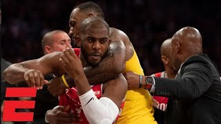 Punches thrown in LeBron James