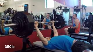 """Fake weights? 365lb bench @ 152lb body weight... """"Documentation"""" and a skit"""