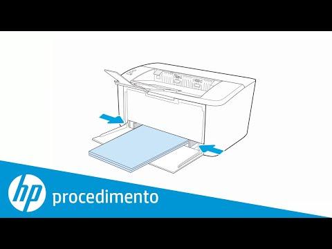 Colocando papel na impressora HP LaserJet