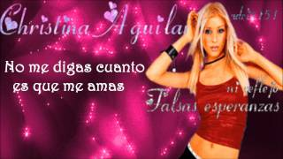 falsas esperanzas-Christina Aguilera -(Letra)