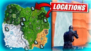 In fortnite battle royale where are the waterfalls