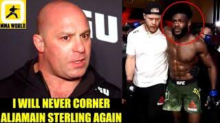 Matt Serra felt Disrespected by Aljamain Sterling's decision of removing him from his corner,Cruz
