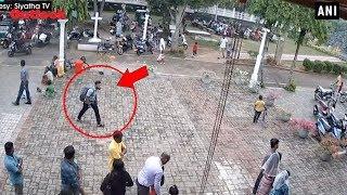 CCTV Footage Shows Suicide Bomber Entering Sri Lanka's St Sebastian Church Moments Before Blast
