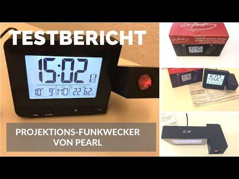 ► Unboxing- und Testvideo des Funk-Projektions-Weckers von Pearl auf Deutsch ☑