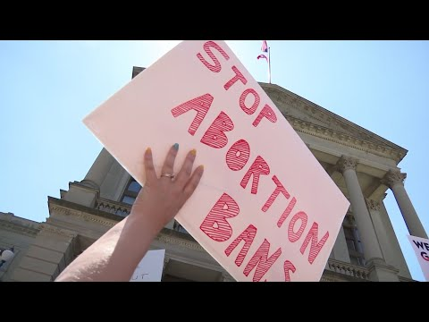 Supporters of abortion rights rallied at the Georgia State Capitol as part of a national campaign responding to states that have passed new abortion restrictions.(May 21)