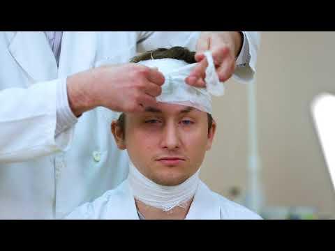 Методика наложения мягких бинтовых повязок на голову
