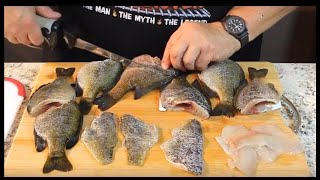Clean and Pan Fry Whole Bluegills  (Like the good ol' days!)