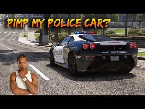 GTA 5 - HOW TO CUSTOMIZE POLICE CARS IN GTA 5 *OFFLINE* (GTA 5 Secret Tricks & Glitches)