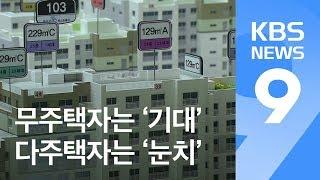 """""""무주택자는 기대, 고가 1주택자는 울고, 다주택자 눈치보기"""" / KBS뉴스(News)"""