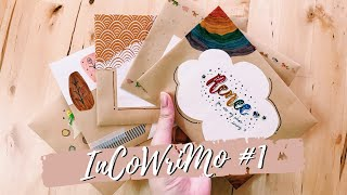 🌈 Writing Letters to My Friends! | InCoWriMo Vlog #1 | Penpal With Me | The Sunshine Journals