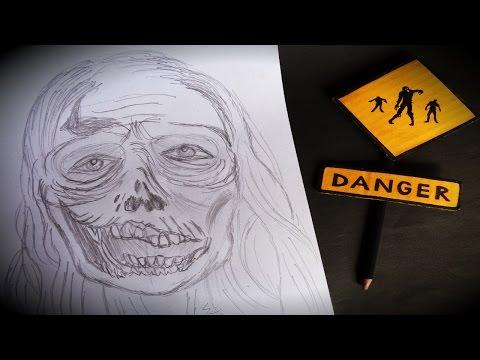 Como fazer  Desenho de um Zumbi  estilo The Walking Dead
