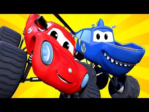 монстр-трак -  Монстр Акула Марти разбился в горах - Монстр Трака | детский мультфильм