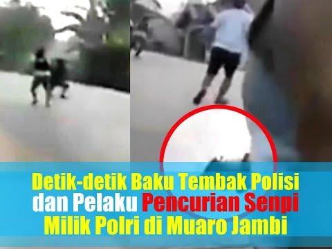 Detik-detik Baku Tembak Polisi dan Pelaku Pencurian Senpi Milik Polri di Muaro Jambi