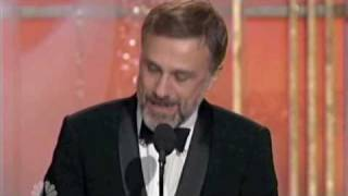 Christoph Waltz Golden Globe acceptance speech