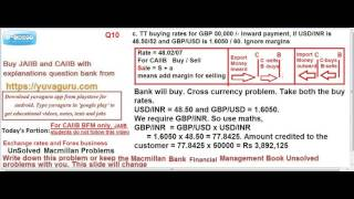 CAIIB BFM EXCHANGE RATES AND FOREX BUSINESS UNSOLVED PROBLEMS 3 BY VISHAL MANTRI 9960560404