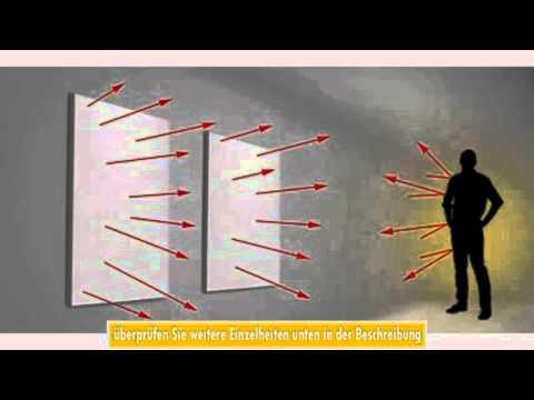 TecTake Infrarotheizung 900 Watt Elektroheizung Infrarot Heizkrper IR Heizung inkl Wand und Deckenha