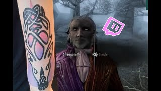 New Skyrim Tattoo!! - Skyrim Stream