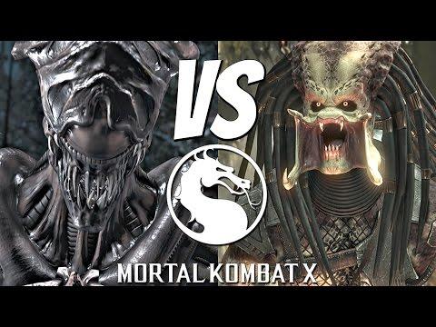 Mortal Kombat X - Alien Vs. Predator Matches Gameplay Brutality Fatality [1080p 60fps]