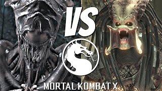 Mortal Kombat X  Alien Vs Predator Matches Gameplay Brutality Fatality 1080p 60fps