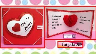 Tarjeta 3D Para Día De San Valentin♥♥-CREACIONES Mágicas♥♥