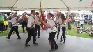 preview picture of video 'Cardiff Morris dance Idbury Hill in Priddy, 12th July 2014.'