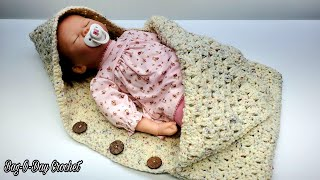Easy Crochet Baby Bunting Cocoon  Bag O Day   Crochet Tutorial 673 Subtitles Available
