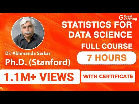 Statistics for Data Science | Probability and Statistics | Statistics Tutorial | Ph.D. (Stanford)