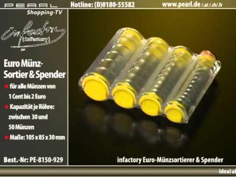 infactory Euro-Münzsortierer und -Spender