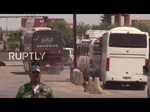 Syria: Militant evacuation from Douma resumes
