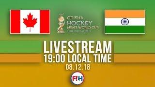 Canada v India | 2018 Men's Hockey World Cup | FULL MATCH LIVESTREAM