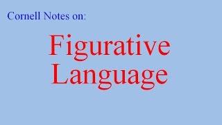 Cornell Notes On Figurative Language
