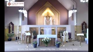 Apr. 12, 2020 - Easter Mass - Fr. Maxy D'Costa (video)