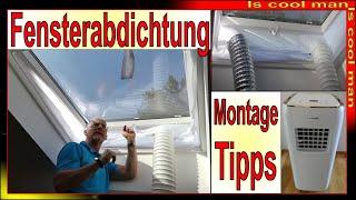Klimaanlage Montage Fensteradapter Dachflächenfenster [ Sommer 2021 ] mobiles Klimagerät Abluft