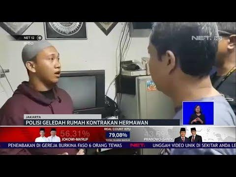 Polisi Geledah Rumah Kontrakan Hermawan, Tersangka Pengancam Presiden NET12