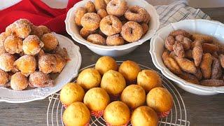 Magdalenas, buñuelos y rosquillas con la misma receta. ¡LA RECETA DEFINITIVA!