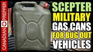 Bug Out Fuel: Scepter Military Fuel Can For Vehicles