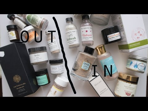 Powder Cleansers and Facial Exfoliants Collection and Declutter