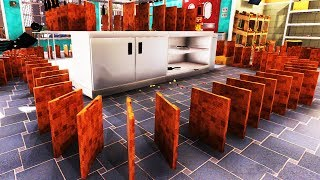 I Turned My Kitchen into an Insane Domino Maze - Cooking Simulator