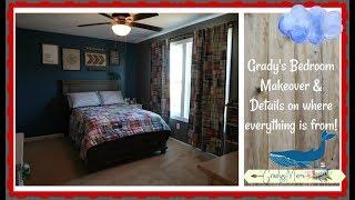 Gradys New Bed & Big Boy Room W/ Details On Paint Decor & More