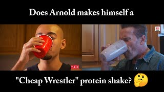 "Arnold Schwarzenegger tries ""Cheap Wrestler"" Protein Shake"