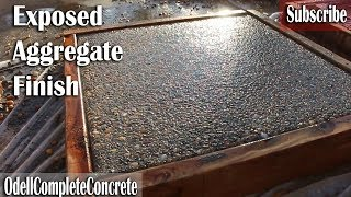How to get a Exposed Aggregate Finish on Concrete