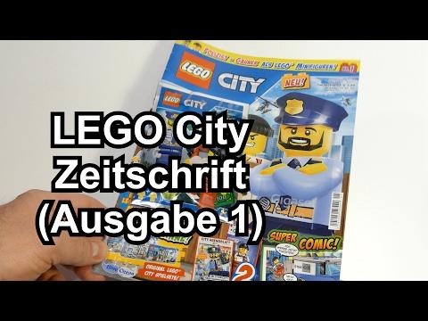 Lego City Magazin: Ausgabe 1 mit zwei Minifiguren (Polizist und Räuber)