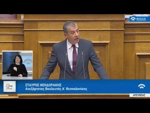 Απόσπασμα από την ομιλία Στ. Θεοδωράκη στη συζήτηση στη Βουλή για την ένταξη της ΠΓΔΜ στο ΝΑΤΟ