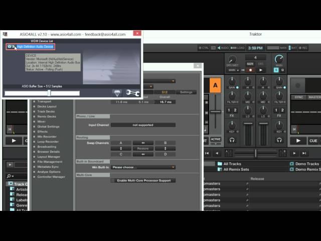Cómo configurar ASIO4ALL para tarjetas de audio integradas