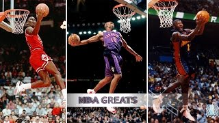 Top 10 NBA Slam Dunk Contest Dunks of ALL TIME - Michael Jordan, Vince Carter, Dwight Howard